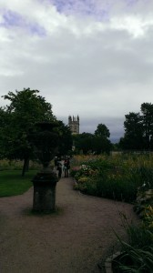 The Oxford Botanic Gardens.