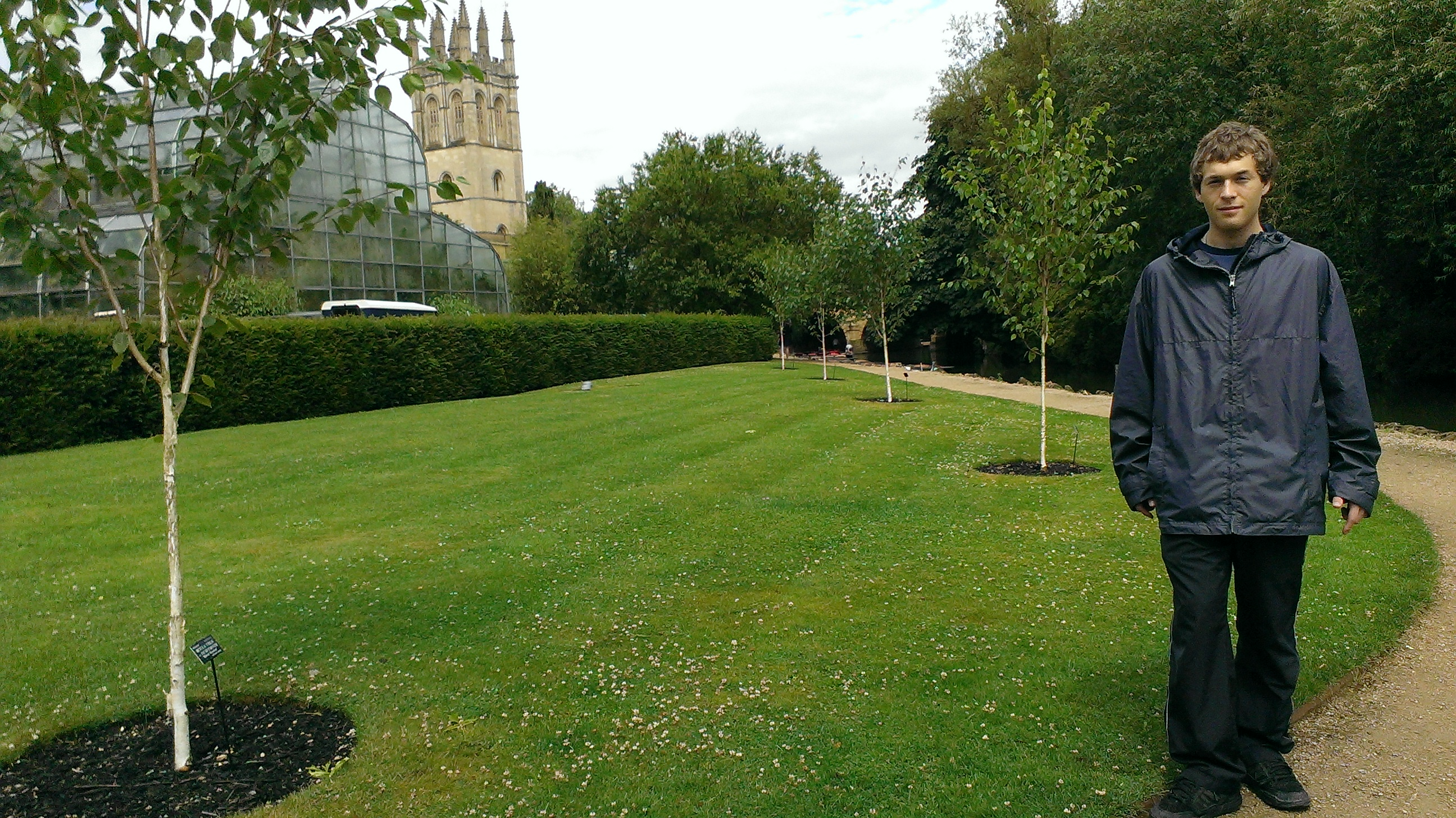 Magdalen College viewed from the Botanic Gardens.