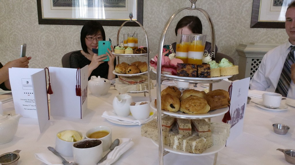 Elegantly stacked food at Afternoon Tea.